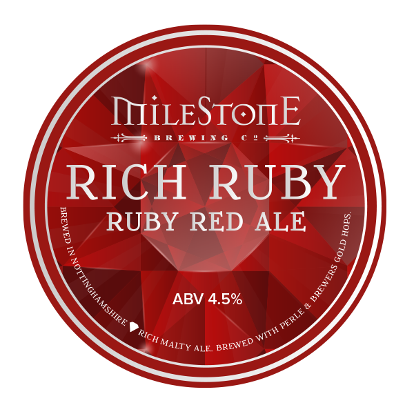 Rich Ruby Ale Craft Beer Milestone Brewery
