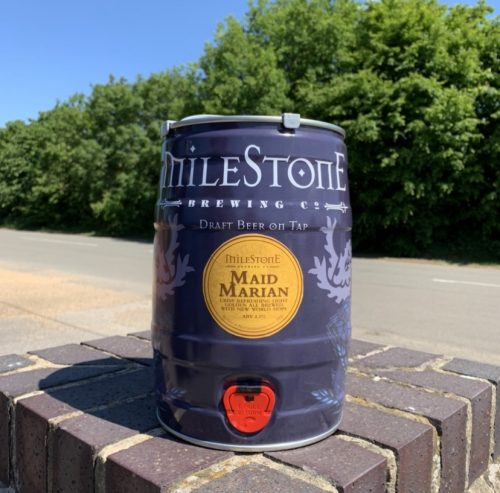 Maid Marian Craft Beer Mini Keg Milestone Brewery
