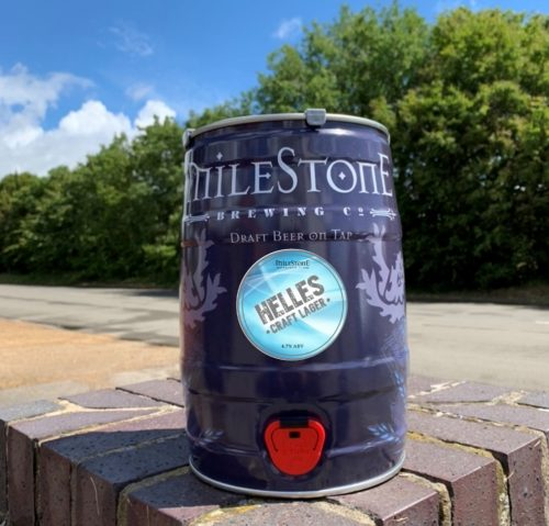 Helles Craft Lager Mini Keg Milestone Brewery