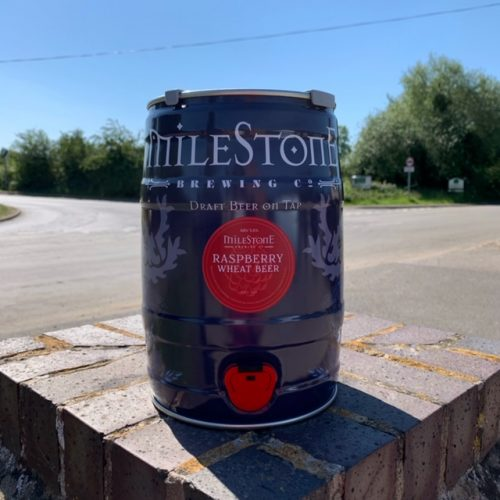 Raspberry Wheat Craft Beer Mini Keg Milestone Brewery